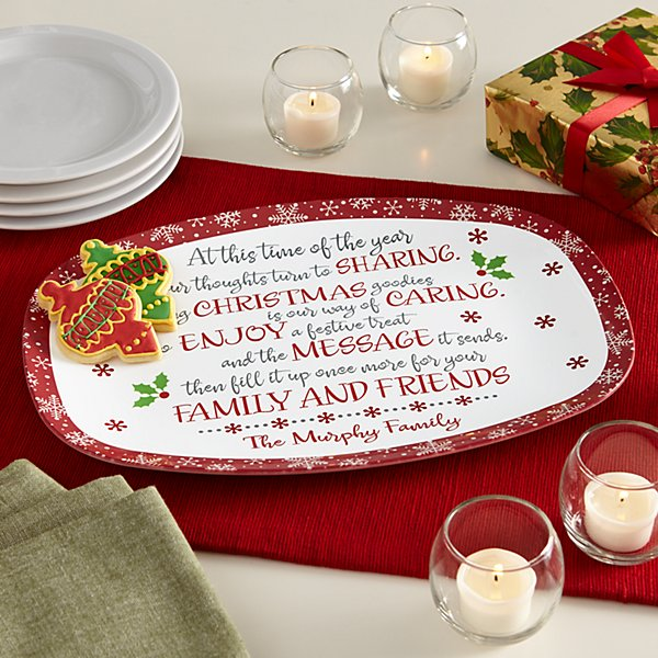 Christmas Blessings Giving Platter