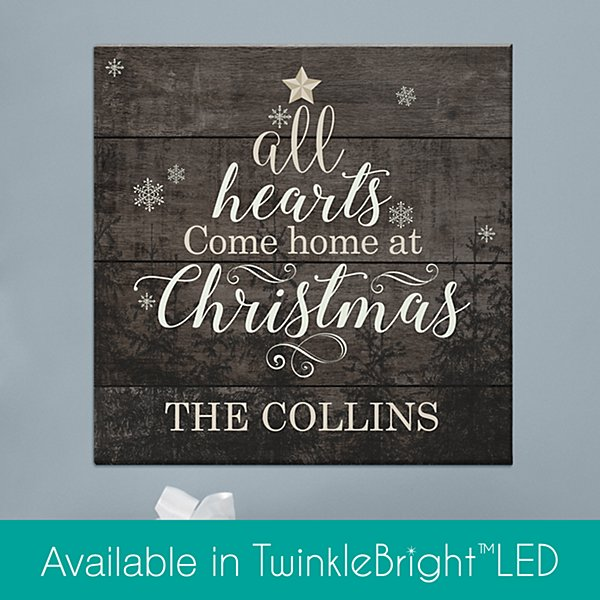 All Hearts Come Home at Christmas Canvas