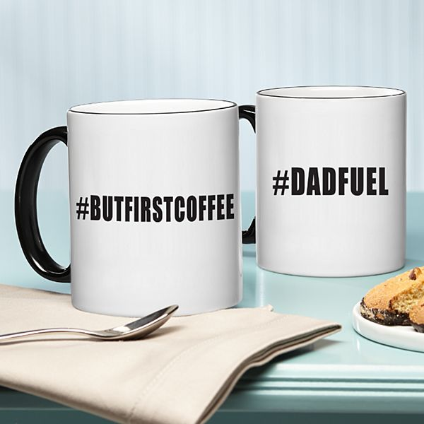 Hashtag Black Handle Mug