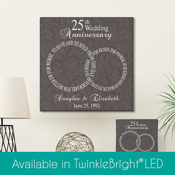 Rings of Love Anniversary Wall Art