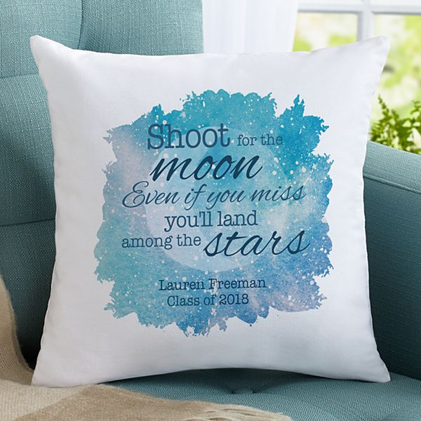 Shoot For The Moon Throw Pillow
