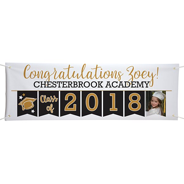 Yay Grad! Celebration Photo Banner - 6ft