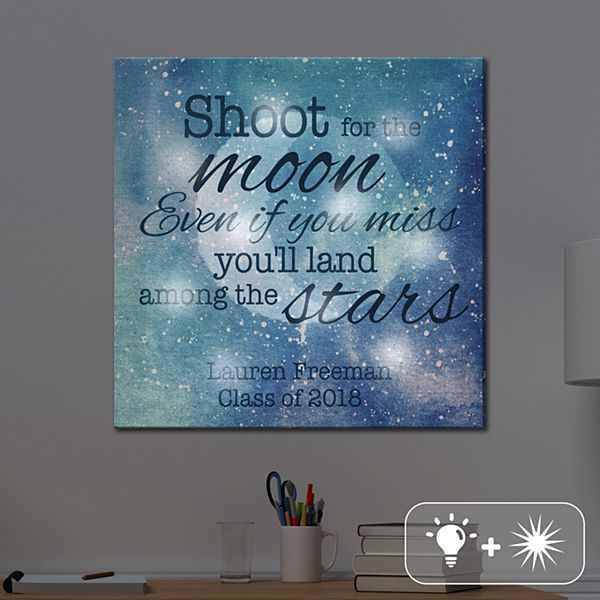 TwinkleBright® LED Shoot For The Moon Canvas