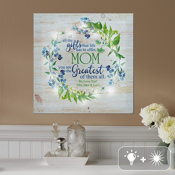 TwinkleBright® LED Greatest Gift Canvas
