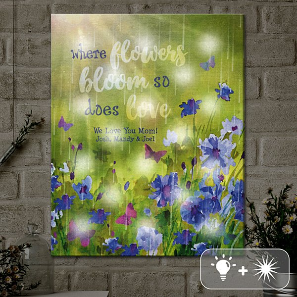 TwinkleBright® LED Love Blooms Canvas