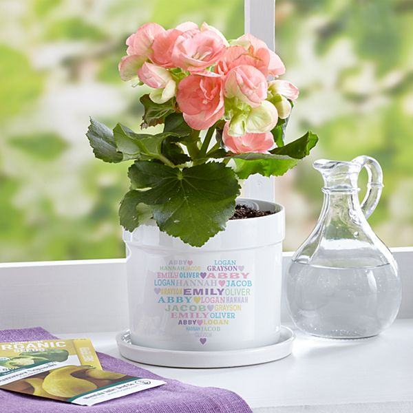 Pastel Heart Full of Love Flower Pot