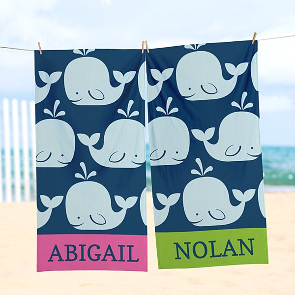 Whale Of A Tale Beach Towel