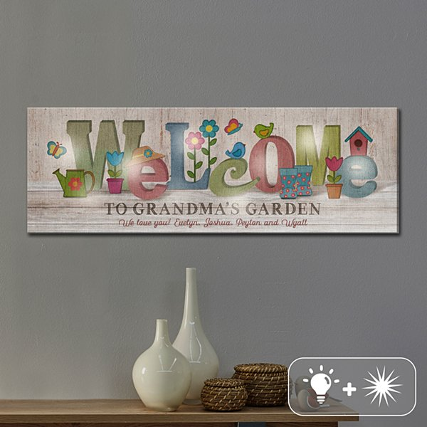 TwinkleBright® LED Welcome Garden Canvas