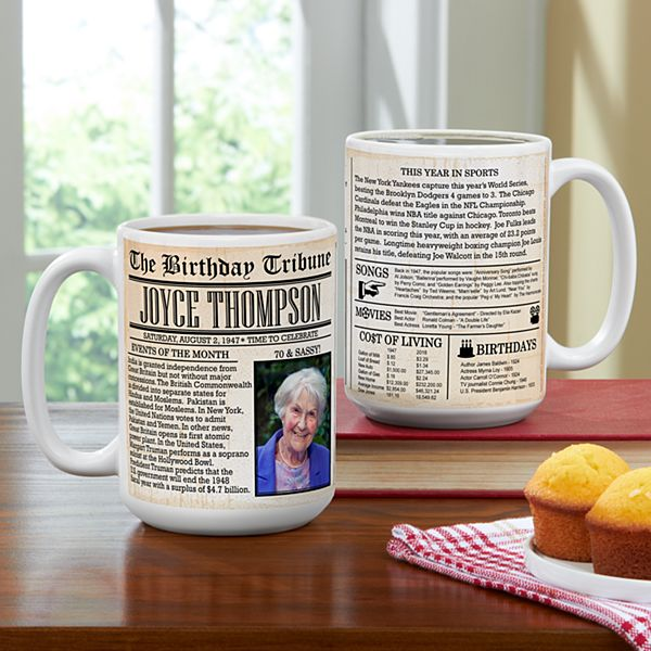 Birthday News Photo Mug