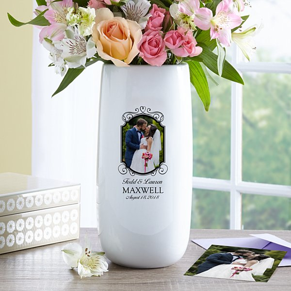 Cherish Our Love Photo Vase
