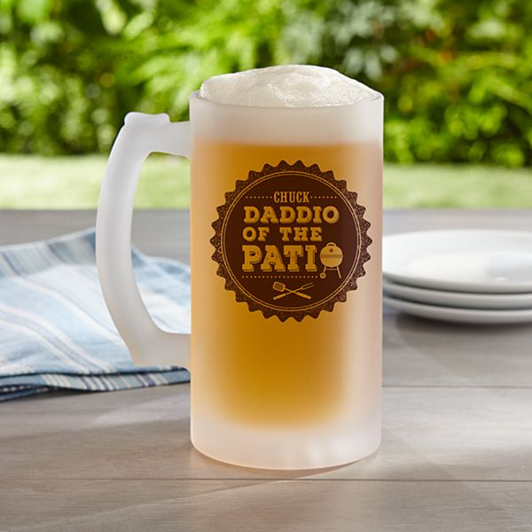 Daddio of the Patio Frosted Beer Mug