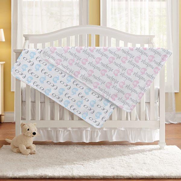 Elephant Parade Baby Blanket