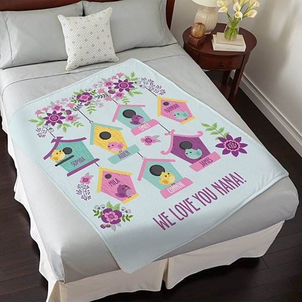 Birdie Blessings Plush Blanket