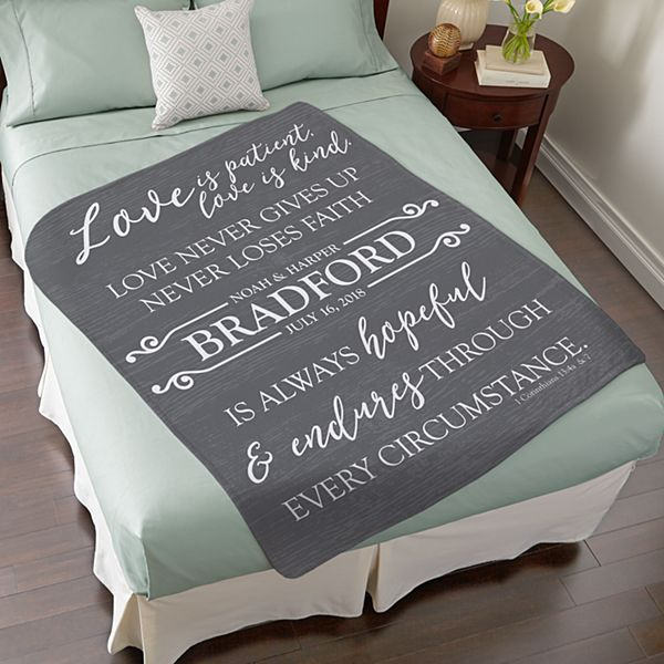 Love Endures Plush Blanket