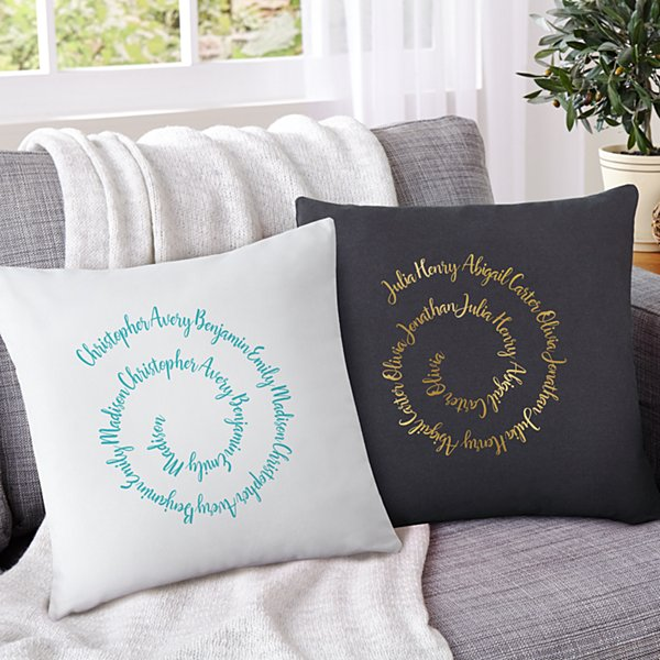 Circle of Love Throw Pillow