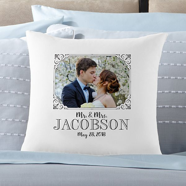 Our Special Day Photo Throw Pillow