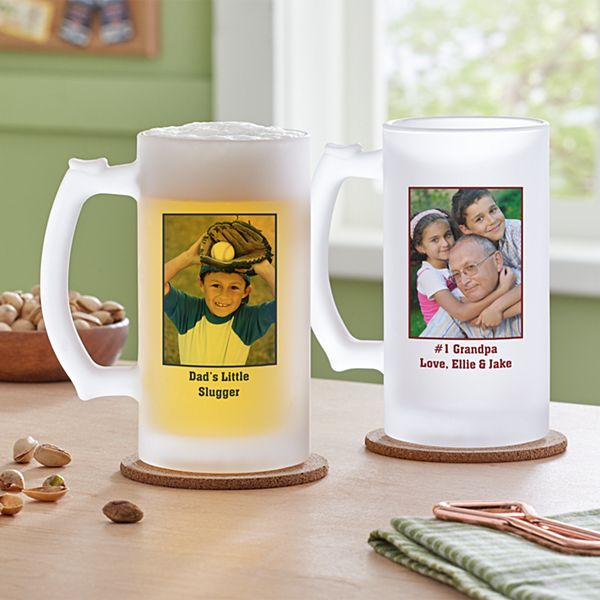 Photo Message Frosted Beer Mug