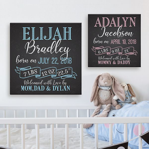 Personalized Nursery Baby Room Decorations
