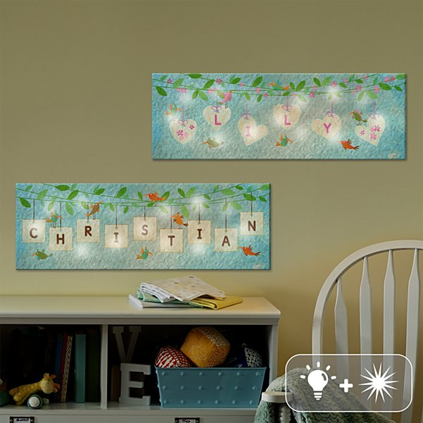 TwinkleBright® LED Hanging Letter Canvas