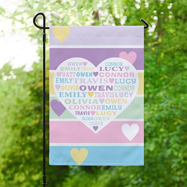 Pastel Heart Full of Love Garden Flag