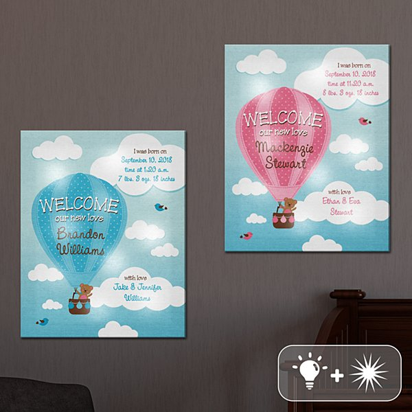 TwinkleBright® LED Up & Away Baby Canvas
