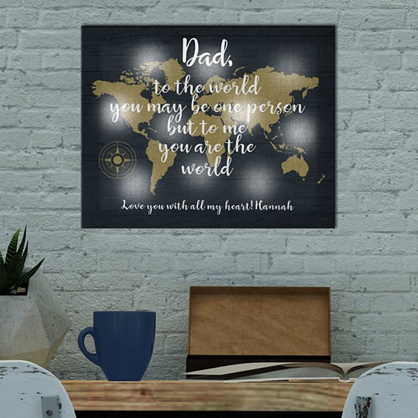 TwinkleBright® LED You Mean The World Canvas
