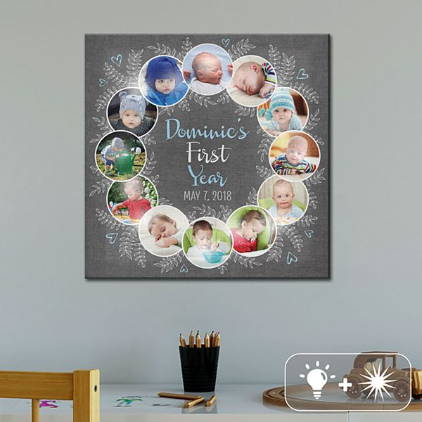 TwinkleBright® LED Oh What A Year Photo Canvas