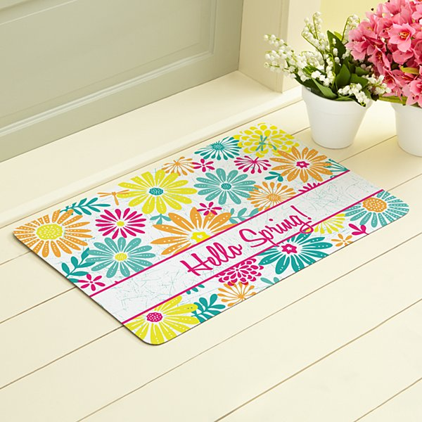Bright Summer Flowers Doormat