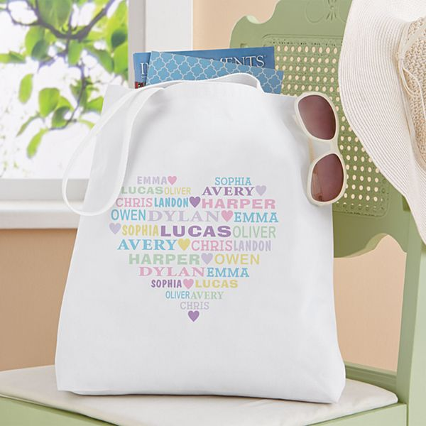 Pastel Heart Full of Love Tote