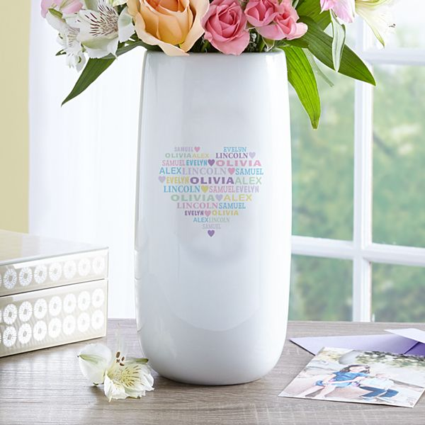 Pastel Heart Full of Love Vase
