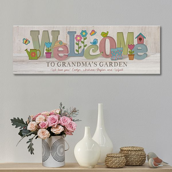 Welcome Garden Canvas