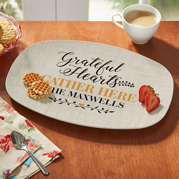 Grateful Hearts Serving Platter