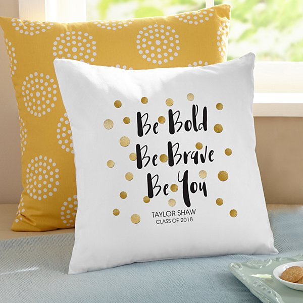 Be Bold Graduation Pillow