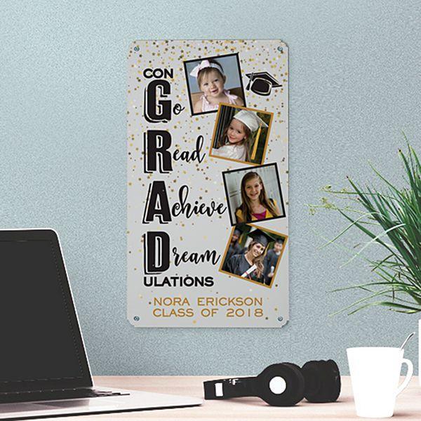 Congrats Grad! Photo Metal Sign