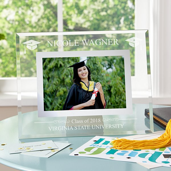 Graduation Etched Glass Frame