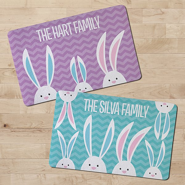 Peek-a-boo Bunnies Doormat
