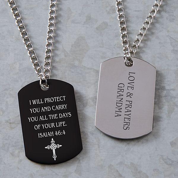Words of Faith Dog Tag