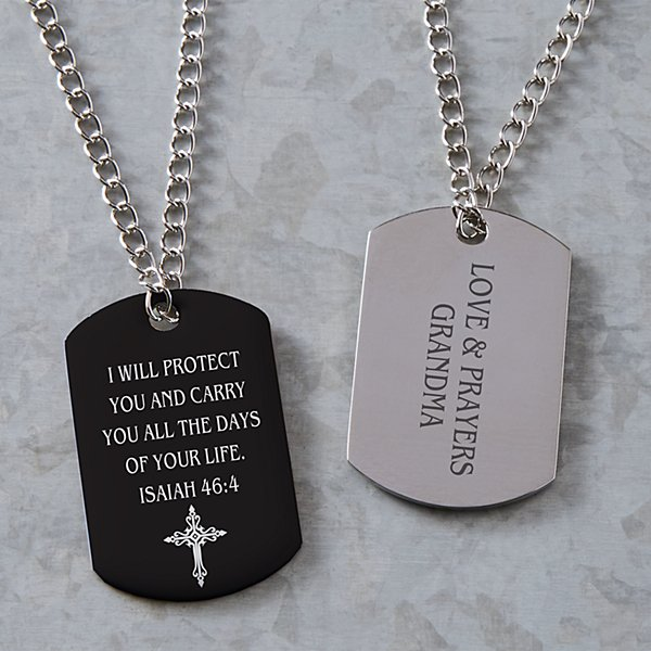 Words of Faith Dog Tag