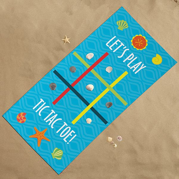 Tic Tac Toe Beach Towel