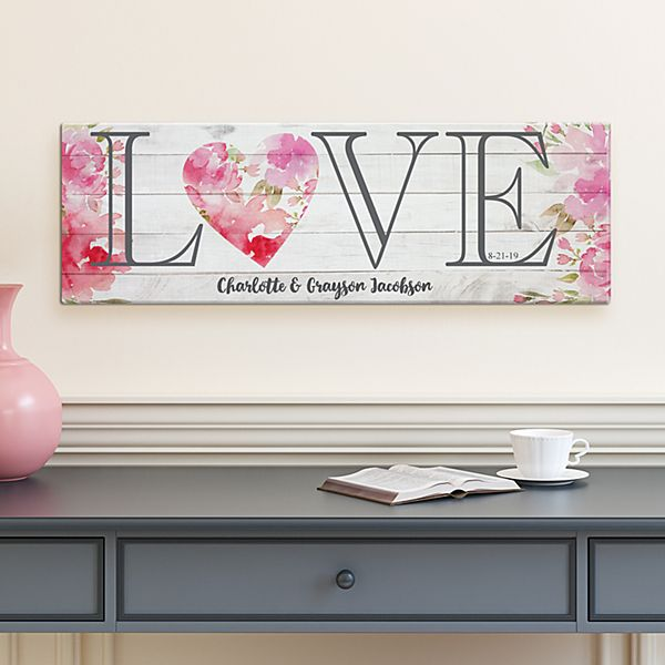 Floral Love Canvas