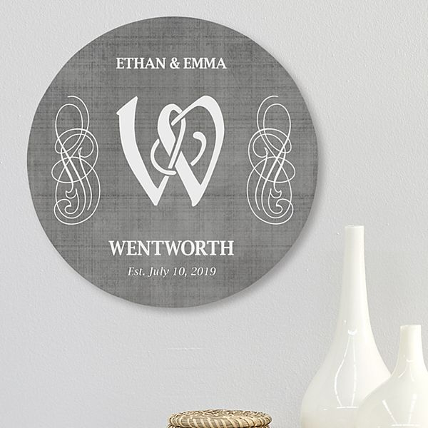 Initial Circle Wood Plaque