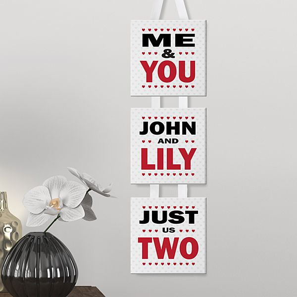 Just Us Two 3Pc Hanging Canvas