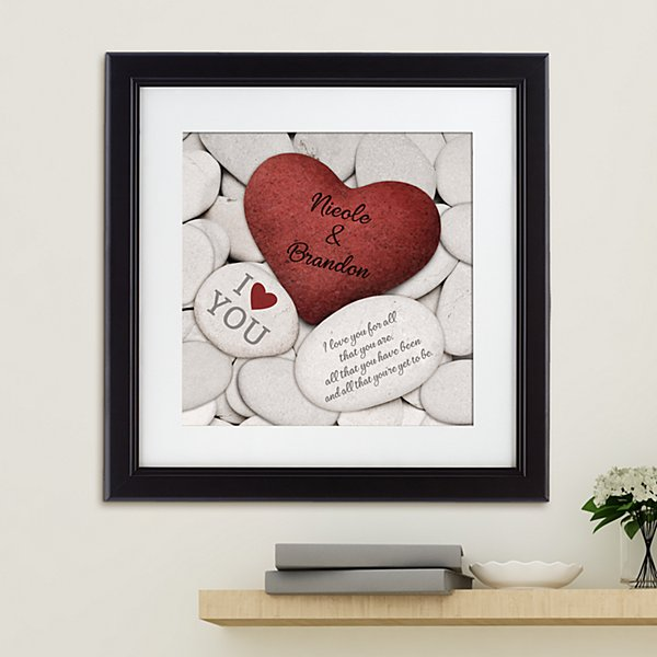 Love Rocks Square Framed Print