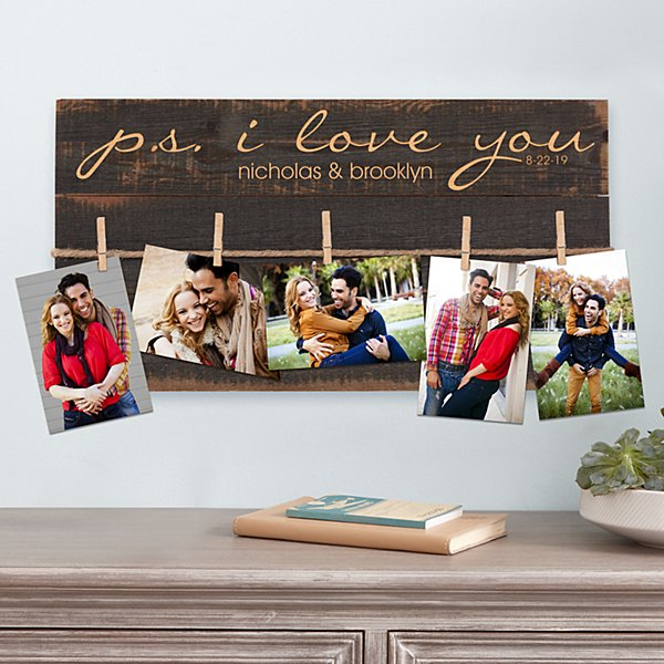 PS I Love You Rustic Wood Pallet Wall Art