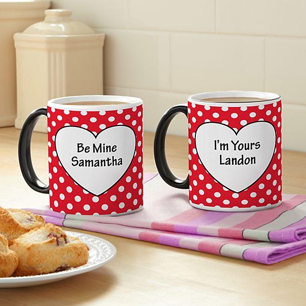 Polka Dot Hearts Mug Set