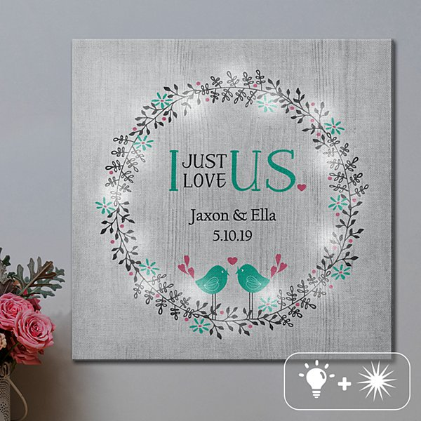 TwinkleBright® LED Just Us Canvas