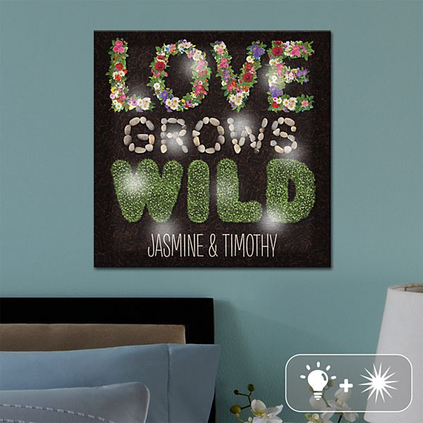 TwinkleBright® LED Love Grows Wild Canvas