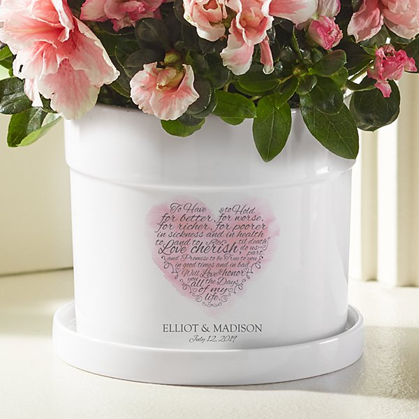 Wedding Vows Flower Pot