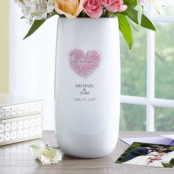 Wedding Vows Vase
