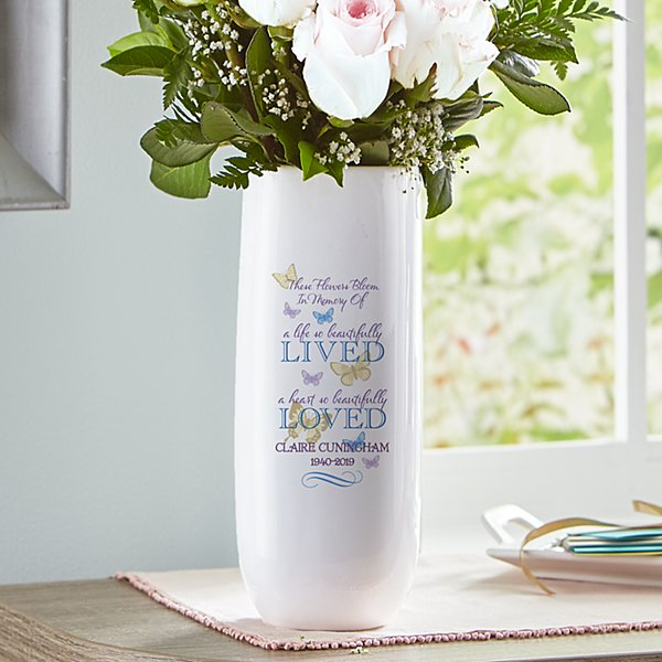 Bloomed With Love Memorial Vase